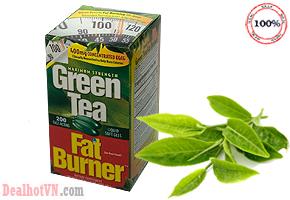 Viên giảm cân trà xanh Green Tea Fat Burner (200 viên) – hàng chính hãng Mỹ chiết xuất hoàn toàn từ thành phần thiên nhiên, không chứa chất bảo quản giúp bạn giảm bớt cảm giác thèm ăn, giảm cân hiệu quả. Giá 490.000đ.