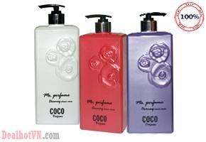 Sữa Tắm nước hoa Coco Ms. Perfume Charming Shower Cream 800ml – hàng nhập Hông Kông Với hương nước hoa chanel quyến rủ cùng chiết xuất từ hoa hồng mang lại cho bạn làn da mềm mại minh màng. Chỉ 109.000đ Tại Dealhotvn.com!
