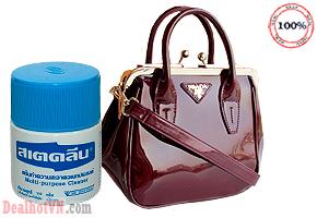 Kem đánh bóng đồ đa năng hàng nhập từ Thái Lan làm sạch bóng các vết bẩn thâm  đen trên các đồ dùng như da, giày, dép, nhựa, nhôm... Giá 59.000đ.
