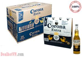 Lốc 4 chai bia Corona Extra 350ml – nhập khẩu Mexico