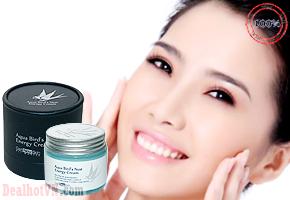 Kem dưỡng da tổ yến Aqua bird's Nest Energy Cream – chính hãng Hàn Quốc có tác dụng giúp làn da trắng sáng, làn da tràn trề sức sống và căng mịn. Giá 250.000đ.