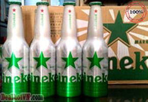 Thùng 24 chai nhôm Bia Heineken nhập khẩu từ Hà Lan 330ml/chai.Giá 1.150.000đ