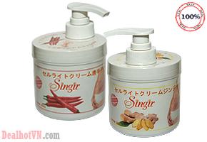 Eo thon, dáng gọn với gel massage tan mỡ bụng Singir 500gr – chính hãng Nhật. Hiệu quả ngay lần sử dụng đầu tiên. Chỉ với giá 190.000đ. Đang có tại Dealhotvn.com!