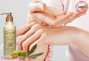 Sữa dưỡng chống nhăn da tay - Rich Hand V with Vitamin E  Soft Touch Hand – Thefaceshop 200ml với chiết xuất từ dầu hạnh nhân cùng dầu bơ giúp hạn chế nếp nhăn và da tay luôn mềm mại. Giá 90.000đ