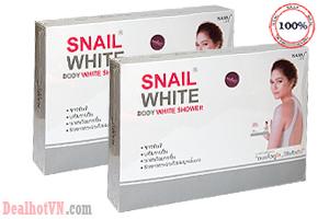 Set tắm trắng Snail White Body hàng nhập từ Thái Lan. Với công thức đặc biệt, thấm sâu vào da, giúp tẩy sạch và đào thải các loại mụn cũng như giúp tăng cường độ ẩm và làm se khít lổ chân lông. Giá khuyến mãi cực kỳ hấp dẫn chỉ còn 95.000đ.