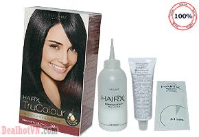 Thuốc nhuộm tóc Hair X TruColour của mỹ phẩm Oriflame hàng nhập từ Thụy Điển với công thức chăm sóc tóc và nuôi dưỡng tóc, mang lại màu nhuộm rõ nét, bền màu. Giá sale 100.000đ