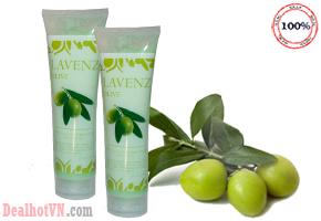 Muối tắm trắng tẩy thâm Lavenz Olive hàng chính hãng Pháp giúp loại bỏ những tế bào chết và cả những chất cặn bã lẫn độc tố trên bề mặt da bạn, đem lại cho bạn làn da vẻ sáng mịn, tươi trẻ và mềm mại. Giá 140.000đ.