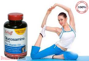 Viên uống bổ khớp Glucosamine Plus Vitamin D3 hàng nhập từ Mỹ giúp duy trì tính toàn vẹn của cấu trúc của khớp và mô liên kết. Bổ sung glucosamine giúp hỗ trợ dịch khớp sụn, dây chằng, gân, màng và mạch máu. Giá 450.000đ.