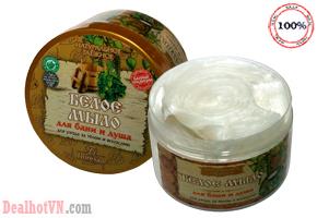 Kem tắm trắng da Floresan hàng nhập khẩu từ Nga, thành phần sữa dê và chiết xuất thảo mộc rừng Taiga... giúp da trắng sáng mịn màng. Giá 170.000đ