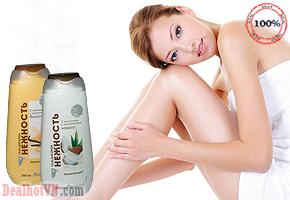 Sữa tắm dừa Auchan Kokoca nhập khẩu từ Nga chiết suất từ sữa tươi và dừa giúp dưỡng ẩm và làm mịn da, mang đến cho bạn một làn da với mùi hương nhẹ nhàng. Giá 120.000đ