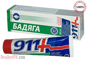 Gel bôi đa năng  911- Nga  giúp giảm đau nhức toàn thân, tan máu bầm, tái tạo mô cơ, tăng cường tuần hoàn máu, giảm phù nề...giá 110.000đ