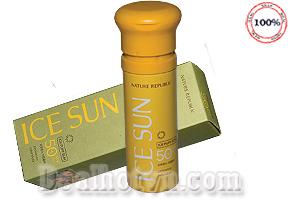 Kem chống nắng Nature Republic Ice Sun SPF50 hàng chính hãng Hàn Quốc.  Được chiết xuất từ hoa hướng dương thiên nhiên, vừa làm mát da, vừa làm kem chống nắng cho da mặt, vừa làm kem lót, kem che khuyết điểm vô cùng an toàn & tiện dụng. Giá 220.000đ