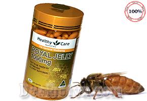 Sữa Ong Chúa Healthy Care Royal Jelly 1000mg 365 viên hàng chính hãng Australia Giúp chống lão hóa da, làm đẹp da tăng cường sức khỏe...Giá 750.000đ