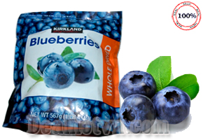 Blueberries - Quả việt quất là quả của một loại cây bụi thuộc họ vaccinium, có rất nhiều chất có lợi cho và được coi là phương thuốc vàng cho sức khỏe hàng nhập từ Mỹ với trọng lượng 567gr Giá 305.000đ.
