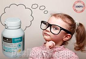 Dầu cá BioIsland DHA nhập khẩu từ Úc phát triển tối đa trí não và thị giác của trẻ. Giá 310.000đ