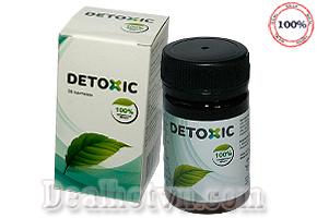 Detoxic hàng nhập khẩu từ Nga là sản phẩm toàn diện có nguồn gốc từ thảo dược độc đáo, có tác dụng có hại đối với ký sinh trùng và ấu trùng nhưng vẫn an toàn với cơ thể người. Detoxic diệt giun sán và nhanh chóng loại bỏ chúng khỏi ruột, ngăn ngừa độc tố không để chúng phát huy tác động tiêu cực lên cơ thể. Giá 200.000đ