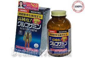 Viên uống trị khớp Glucosamine Orihiro 1500mg (900 viên) - hàng chính hãng Nhật bản, được chiết xuất từ sụn cá mập. Là sản phẩm hỗ trợ điều trị xương khớp, rất thích hợp cho người lớn tuổi, đau xương khớp và nhứt đầu gối. Giá 600.000đ.