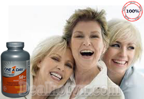 Viên uống bổ One A Day For Women 50+ là nguồn bổ sung vitamin tuyệt vời cho phụ nữ ở độ tuổi trên 50. Đặc biệt hỗ trợ tăng cường trí nhớ, giảm chứng đau nhức xương khớp và các triệu chứng rối loạn tiền mãn kinh được khắc phục tối đa. Giá 550.000đ.