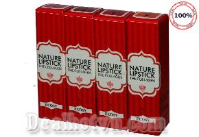 Son Ecosy Nature Lipstick mẫu mới có thành phần chính được chiết xuất hoàn toàn từ thiên nhiên cùng tinh chất dưỡng và collagen, giúp giữ ẩm cho môi, mang đến cho bạn một đôi môi với tông màu tự nhiên, quyến rũ. Giá 220.000đ
