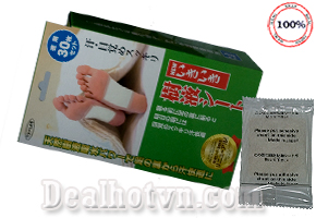 Miếng dán thải độc tố chân To – Plan Nhật Bản giúp làm sạch nhẹ nhàng, hút các tạp chất và độc tố ra khỏi cơ thể , cải thiện giất ngủ, trấn an đau đầu...Giá 320.000đ