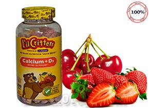 Kẹo dẻo Lil Critters Calcium D3 Gummy Bears - kẹo dẻo bổ sung canxi, vitamin D3 cho bé từ 2 tuổi trở lên - 200 viên, hàng nhập khẩu từ Mỹ. Giá 390.000đ.