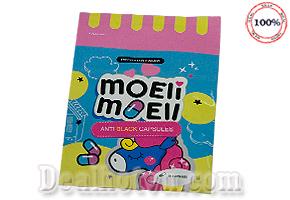 Bịch 10 viên thuốc trắng da Moeli Anti Black - chính hãng Thái Lan. Giá 49.000đ