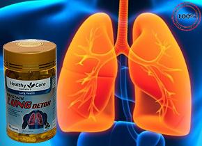 Viên uống giải độc phổi Healthy Care Original Lung Detox hàng nhập khẩu từ Autralia có nguồn gốc từ thực vật giúp thanh lọc phổi, long đờm, giảm ho hỗ trợ điều trị ung thư phổi… Giá 500.000đ