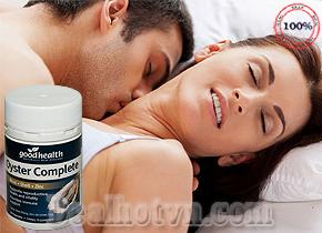 Tinh chất hàu Oyster Complete thương hiệu Goodhealth được chiết xuất từ 100% tinh chất hàu tự nhiên, là sản phẩm rất hiệu quả trong việc hỗ trợ sức khỏe sinh dục nam giới mạnh mẽ, an toàn nhất. Giá 270.000đ