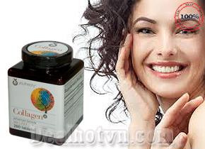 Collagen Youtheory Type 1,2 & 3 – nhập khẩu từ Mỹ cùng với các loại Acid Amin khác và vitamin C mang lại nhiều tác dụng trong quá trình chống lão hóa da, ngăn ngừa hiện tượng rụng tóc và nuôi dưỡng móng chắc khỏe. Giá 460.000đ.