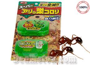 Bộ 2 hộp Thuốc diệt kiến Super Arinosu Koroki - Nhật có mùi thơm hấp dẫn, có khả năng diệt được nhiều loại kiến nhờ cơ chế lây lan, một con kiến ăn thuốc sẽ mang mầm bệnh về cho cả tổ, an toàn với thành viên trong gia đình. Giá 170.000đ