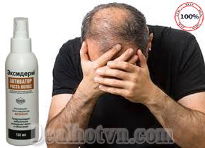 Thuốc mọc tóc trị hói đầu Exiderm Newman Nutrients 150ml nhập khẩu từ Nga đồng thời giúp ngăn ngừa gàu, phục hồi tóc hư tổn. Giá 235.000đ.