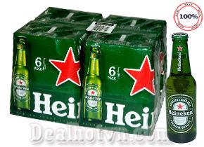 Thùng 24 Chai Bia Heineken Nhập Khẩu Tay Ban Nha 250ml/chai – Loại bia phổ biến đem lại sự ngon miệng cho các bữa ăn và mang mọi người đến gần nhau hơn. Chỉ Còn 480,000đ Cho sản phẩm giá 520,000đ