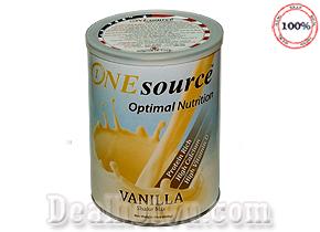 Sữa bột ONEsource Optimal Nutrition Vanilla 400gr được sản xuất với 100% nguồn nguyên liệu hoàn toàn trong nội địa Mỹ, là thức uống giàu vitamin và các vi khoáng chất giúp cung cấp các chất dinh dưỡng tối ưu để duy trì một cuộc sống khỏe mạnh, phù hợp cho nhiều đối tượng. Giá 330.000đ.