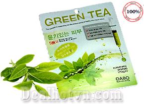 Combo 10 miếng mặt nạ trà xanh Dabo First Solution Mask Pack Green – hàng chính hãng Hàn Quốc. Giá 99.000đ