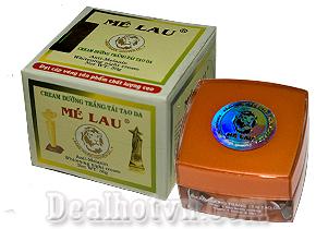 Cream dưỡng trắng tái tạo da Mélau giúp cho làn da bạn trắng mịn làm mờ vết thâm nám, hàng Việt Nam chất lượng cao. Giá giảm còn 130.000đ.