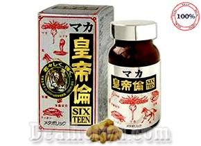 Thuốc bổ thận tráng dương Maca Sixteen chính hãng Nhật Bản đem lại cảm giác say mê, hưng phấn kéo dài thời gian quan hệ, giúp quí ông luôn tự tin, khi sử dụng sản phẩm này. Giá: 580.000đ