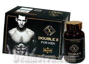 Double X For men giúp tăng cường thể lực, nâng cao trạng thái tinh thần, giảm stress và tăng cường sinh lý cho nam giới, hỗ trợ chống xuất tinh sớm và kéo dài thời gian quan hệ. Giá 590.000đ