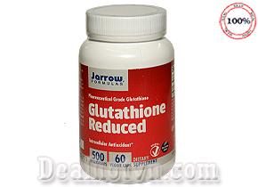 Viên uống trắng da Glutathione Reduced 500mg Jarrow hàng nhập từ Mỹ bổ sung hợp chất Glutathione giúp nuôi dưỡng làn da trắng sáng từ sâu bên trong, đồng thời mang lại nhiều lợi ích sức khỏe tuyệt vời. Giá 560.000đ