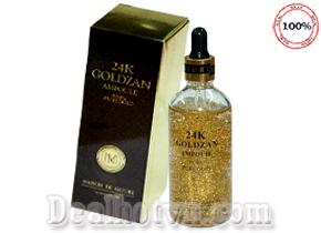 Serum tinh chất vàng 24k Goldzan Ampoule 99.9% Fure Gold hàng nhập từ Hàn Quốc 100ml giúp dưỡng trắng trị nám, se khít chân lông… Giá 130.000đ.