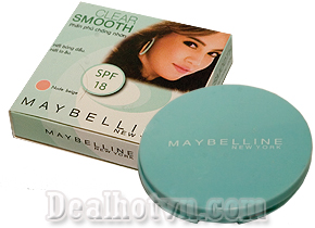 Phấn phủ chống nhờn Clear Smooth Maybelline mang đến cho bạn làm da mịn màng trắng sáng không tì vết. Giá khuyến mãi hấp dẫn chỉ 54.000đ.