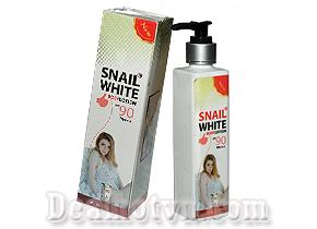 Dưỡng da trắng mịn màng tự nhiên cùng Kem dưỡng thể body Snail White SPF 90 PA +++ mẫu mới – Thái Lan với giá giảm hấp dẫn chỉ 89.000đ. Chỉ có tại Dealhotvn.com!