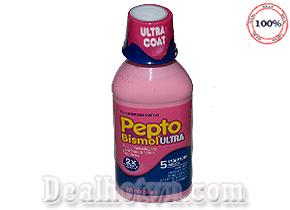 Siro Pepto Bismol Symptom Chuyên Trị Các Bệnh Dạ Dày, Tiêu Hóa Đường Ruột 354ml hàng nhập từ Pháp. Giá 260.000đ.