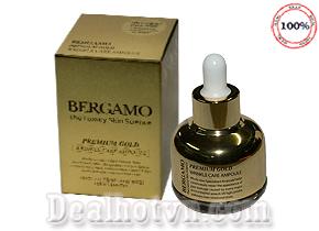 Serum Bergamo Premium Gold Wrinkle Care Ampoule 30ml – Serum collagen chính hãng Hàn Quốc với tinh chất chống lão hóa căng mịn da, xóa nhăn, mờ vết thâm nám…Giá chỉ 210.000đ.