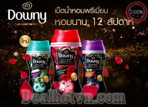 Viên xả vải khô Downy -  hàng nhập từ Thái Lan sản phẩm mới thay thế nước xả vải thông thường, giúp làm thơm quần áo, làm mềm vải và đặc biệt lưu hương trên quần áo rất lâu. Giá 125.000đ