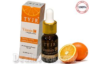 Serum Vitamin C TYJR giúp trắng da, ngăn ngừa lão hóa, dưỡng ẩm hàng chính hãng. Giá 90.000đ/tuýp 10ml