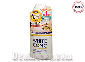 Sữa tắm White Conc Body hàng chính hãng Nhật Bản giúp cho việc chăm sóc da của bạn trở nên dễ dàng hơn. Sản phẩm chứa vitamin C và khoáng chất giúp nuôi dưỡng da trắng hồng và rạng rỡ tự nhiên. Giá 300.000đ.