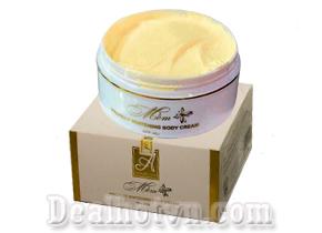 Kem dưỡng trắng da body mềm A Cosmetics giúp dưỡng trắng da toàn thân sau 1 tuần sử dụng. Giá 75.000đ