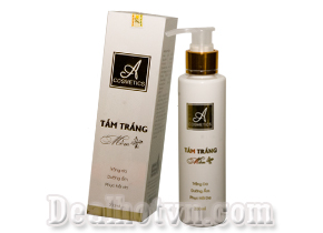 Kem tắm trắng mềm A Cosmetics đươc chiết xuất 100% từ thiên nhiên, là giải pháp tắm trắng hoàn hảo được hàng ngàn chị em phụ nữ Việt Nam tin dùng. Gia 69.000đ
