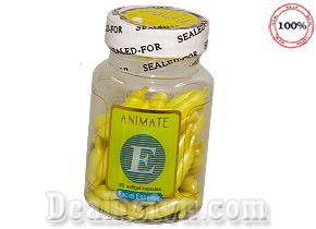 Vitamin E Animate – chống lão hóa giữ ẩm, trị mụn, làm trắng da hộp 60 viên trị giá 70.000đ