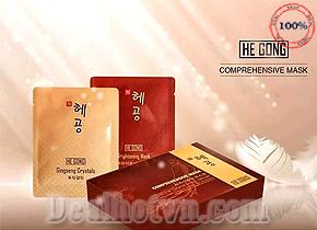 Mặt nạ trắng mặt He Gong – chính hãng Hàn Quốc. Đươc sản xuất theo công nghệ mới, giúp bạn có một khuôn mặt trắng sáng rạng rỡ. Giá combo 2 hộp 68.000đ